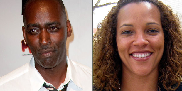 Michael Jace has been charged with the murder of his wife April, right. Photo / AP
