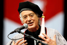 Jimmy Page accepts an an honorary degree of Doctor of Music at Berklee College of Music in Boston. Photo / AP
