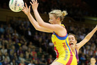 The Central Pulse appear destined to complete a seventh season without a win in Australia after being hopelessly outclassed by the Queensland Firebirds. Photo / Getty Images.