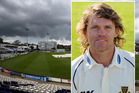 Lou Vincent is pictured in an April 2011 photo call for the Sussex Cricket Club, as Hove cricket ground is pictured in the background. Photo / Getty Images