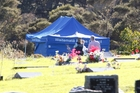 Police investigating the disappearance of Blessie Gotingco search a cemetery on Eskdale Rd in Auckland.  Photo/File
