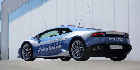 The Lamborghini Huracán LP 610-4 Polizia. Photo / Supplied