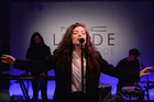 Lorde performing at the New York launch of her collaboration with M.A.C. Picture / Getty Images for M.A.C Cosmetics
