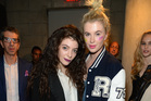 Lorde with model Ireland Baldwin, daughter of Alec Baldwin and Kim Basinger. Picture / Getty Images for MAC Cosmetics