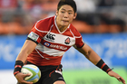Winger Yoshikazu Fujita in action for Japan. Photo / Getty Images.