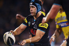 Penrith half Jamie Soward in action for the Panthers. Photo / Getty Images.