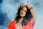 Lana Del Rey says she performed at Kanye West and Kim Kardashian's wedding for free. Photo/AP
