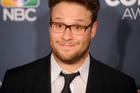 Actor Seth Rogen has launched a Twitter attack over suggestions his movies inspired mass murder. Photo/AP