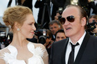 Uma Thurman and Quentin Tarantino arrive for the awards ceremony at Cannes. Photo/AP