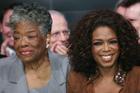 Maya Angelou (L) with Oprah Winfrey. Photo / AP