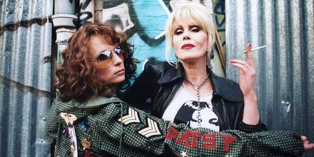 Jennifer Saunders and Joanna Lumley in Absolutely Fabulous.