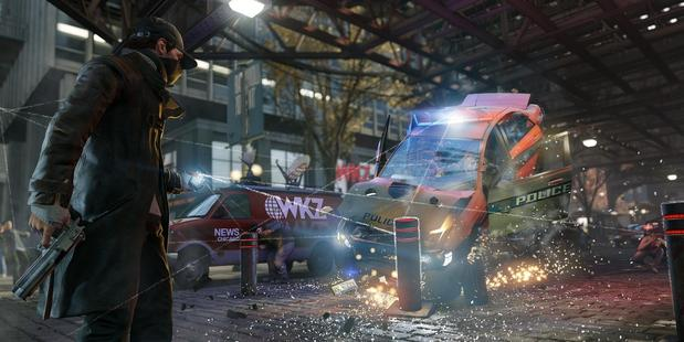 Watch Dogs' protaganist Aiden Pearce is able to hack into Chicago's security network using his phone.