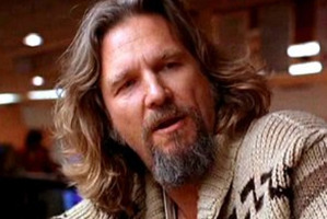 Jeff Bridges as 'The Dude' in the film 'The Big Lebowski'.