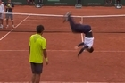 During the French Open Kids' Day, Gaël Monfils and Laurent Lokoli faced each other in a crazy dance battle. Video / YouTube: Roland Garros