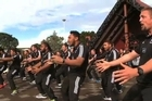 The New Zealand under 20 team welcomes the teams in the IRB Junior World Championship 2014 to Auckland at the Orakei Marae.