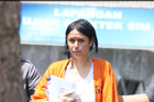 Leeza Ormsby at the Denpasar Police Station. Photo / News Corp
