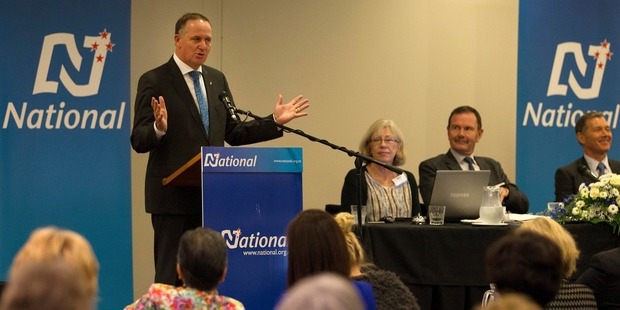 "Prime Minister John Key told  3News  its poll result was ""very pleasing"". Photo / Alan Gibson"
