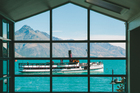 Eichardt's Private Hotel looks out over Lake Wakatipu, where the TSS Earnslaw can often be seen.