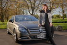 Victoria Carter with her 2012 Mercedes CLS 350 CDI. Photo / Ted Baghurst.