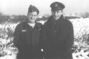 English navigator John 'Mac' McLaren (left) and New Zealand pilot Roy Le Long were a successful Mosquito team.