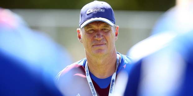 John Kirwan is impressed with West is his calmness under fire. Photo / Getty Images