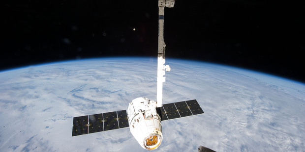 SpaceX Dragon-2 spacecraft. Last month, SpaceX CEO Elon Musk sued the government over a multibillion-dollar contract for 36 rockets to launch defence payloads into space. Photo / AP