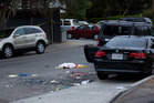 Police tape marks off the scene of a drive-by shooting. Photo / AP
