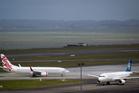 A Virgin Australia plane at Auckland Airport. Photo / Richard Robinson.