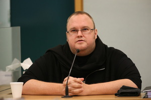 Kim Dotcom gave evidence at John Banks' trial last week. Photo / Greg Bowker