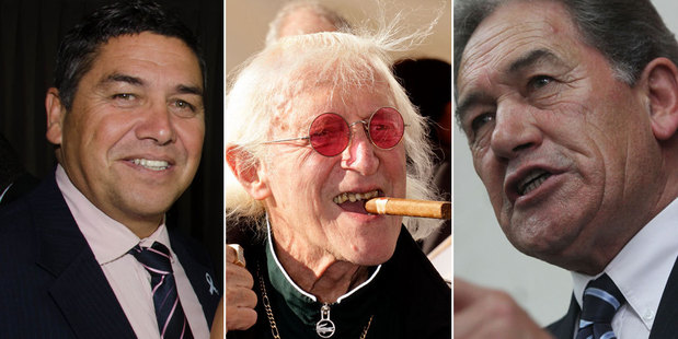 Winston Peters had referred to Brendan Horan in the House as 'the Jimmy Savile of NZ politics'. Photo / NZ Herald, Getty Images