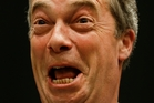 Nigel Farage, the leader of Britain's UK Independence Party (UKIP), whose party topped the poll with 30 per cent. Photo / AP