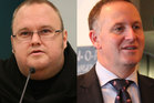 Prime Minister John Key (left) says Kim Dotcom is