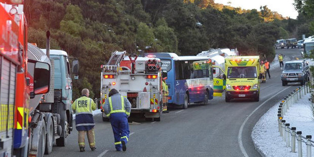 Ice caused trouble for motorists on the Northern Motorway out of Dunedin this morning. Photo / ODT