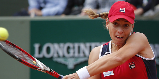 Marina Erakovic failed to make the most of a 3-1 lead in the second set. Photo / AP