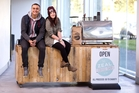 Levi Hohua and Hayley Smith like serving coffee so they started a cafe. Photo / Dean Purcell