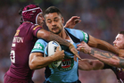 Jarryd Hayne of the Blues. Photo / Getty Images