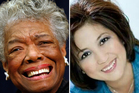 Maya Angelou and Blessie Gotingco. Photos / AP/Supplied