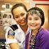 Child Cancer Foundation ambassador Quinn Hautapu meets actress Frankie Adams behind the scenes of Shortland St. Photo / Matt Klitscher / South Pacific Pictures