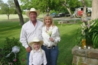 Bob, Lisa and Emma Parr on their Texas ranch.
