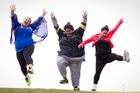 Ashaard Wihongi (left), Letitia Te Pana and Zara Kanuta are taking up the challenge to lose weight. Photo / Sarah Ivey