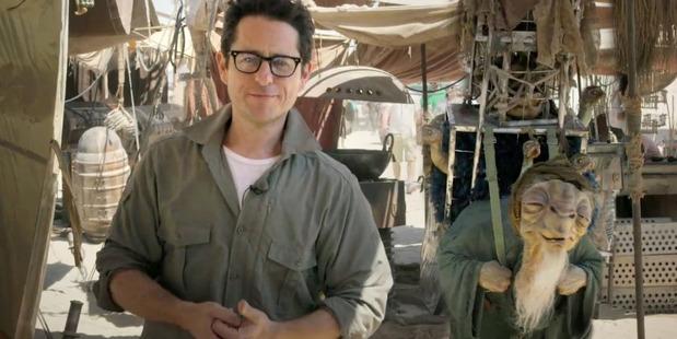 JJ Abrams on the set of Star Wars: Episode VII. Photo/AP