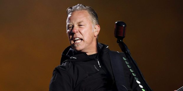 James Hetfield's assocation with a hunting documentary has angered Glastonbury fans. Photo/AP