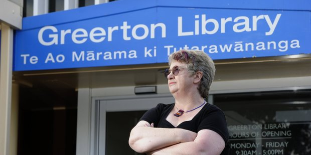 Kate Clarke loves books and she is against council cutts to run the library.