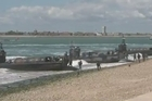 On Thursday, the British city of Portsmouth hosted a reenactment ceremony of the biggest amphibious assault, one of many events of this type planned to celebrate the 70 years of D-Day and the battle of Normandy on June 6, 1944.