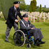 A Polish veteran arrives to participate in the French-Polish Commemoration D-Day Ceremony at the Polish cemetery in Urville-Langannerie, in Normandy, France. Photo / AP