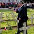 French President Francois Hollande and Polish President Bronislaw Komorowski, right, participate in the French-Polish ceremony at the Polish War cemetery in Urville-Langanneriein Normandy. Photo / AP