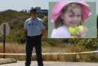 A Portuguese policeman guards the site of the search for Madeleine McCann (inset). Photo / AP