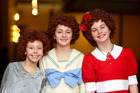 Annie in triplicate, Amelia Walshe, Zoe Fifield and Ilena Shadbolt. Photo / Hagen Hopkins