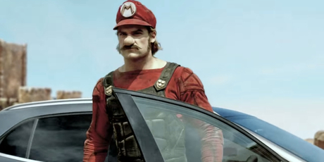 Mercedes take on Super Mario. Photo / Supplied