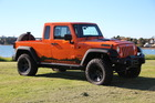 Jeep will be showcasing multiple vehicles at Feildays this week, including this Wrangler ute conversion.